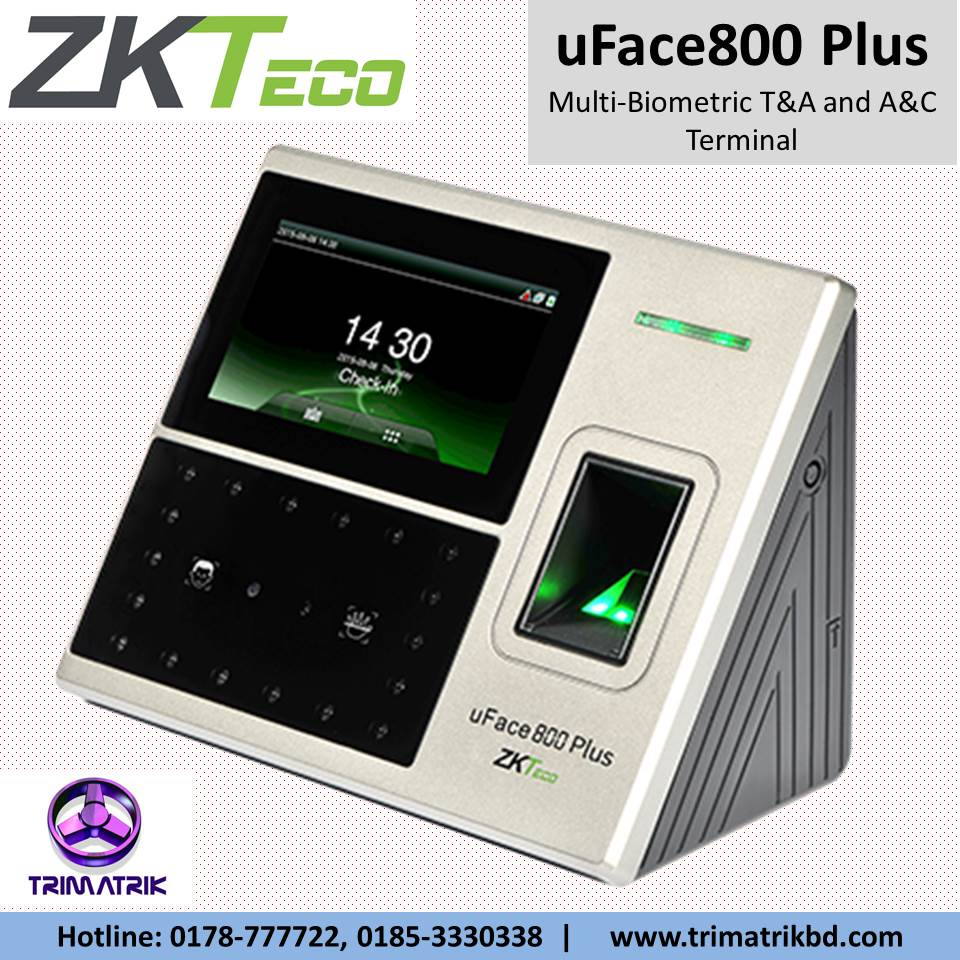 ZKTeco uFace800 Plus Price in BD | ZKTeco uFace800 Plus in Bangladesh